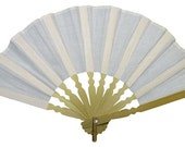 RESERVED for AIRA - THREE Cotton and Wood Hand Fan, for embellishment, 10 inches wide