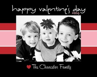 Custom Printable Valentine's Day Photo Card