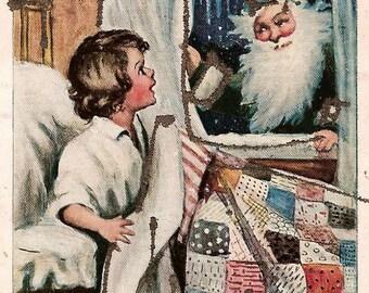 1906 Artist Signed Santa Postcard - Katharine Gassaway