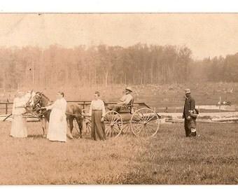 1919 RP Postcard, Western Pioneer Family