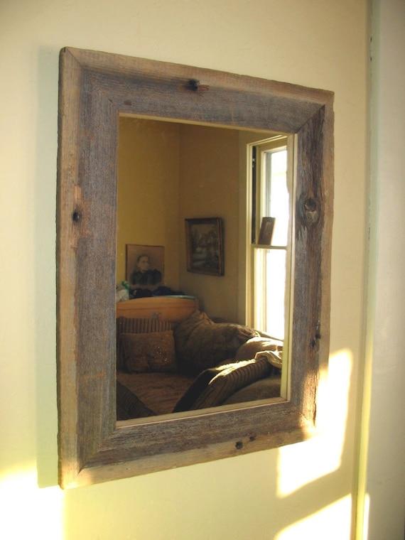 Rustic Barn Board Wood Framed Mirror