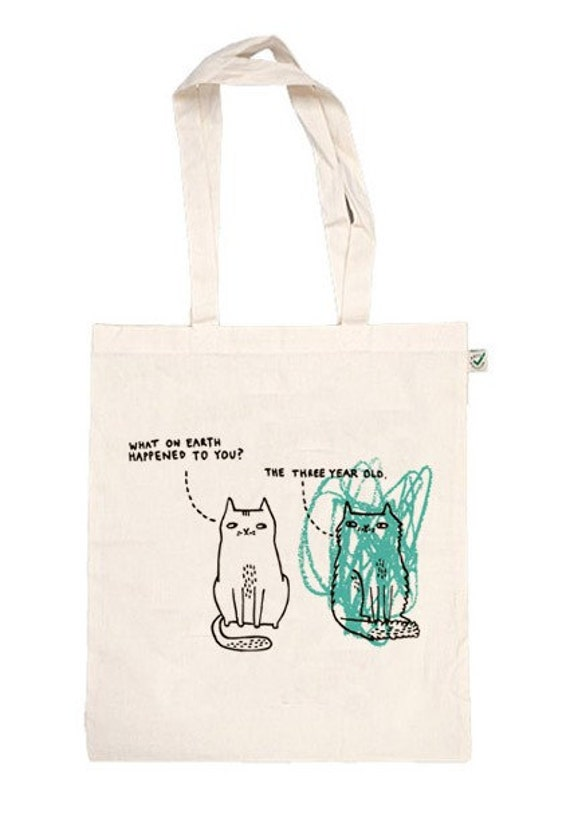 Scribble Kitty Tote bag