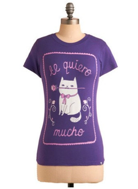 SALE - Te Quiero Mucho T-Shirt XL Extra Large