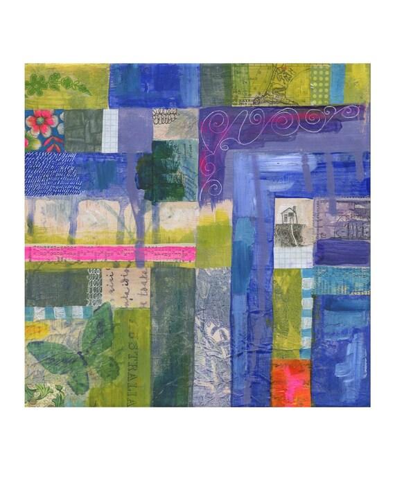 A tiny life No.7 - 8X10 GICLEE PRINT, mixed media painting, Susan Black