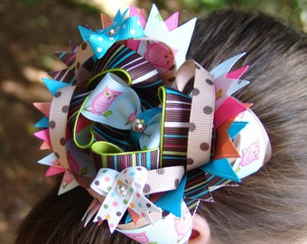 How to Make Stacked Over the Top Hair Bows ... Boutique Instructions Guide Pattern ... Receive Today