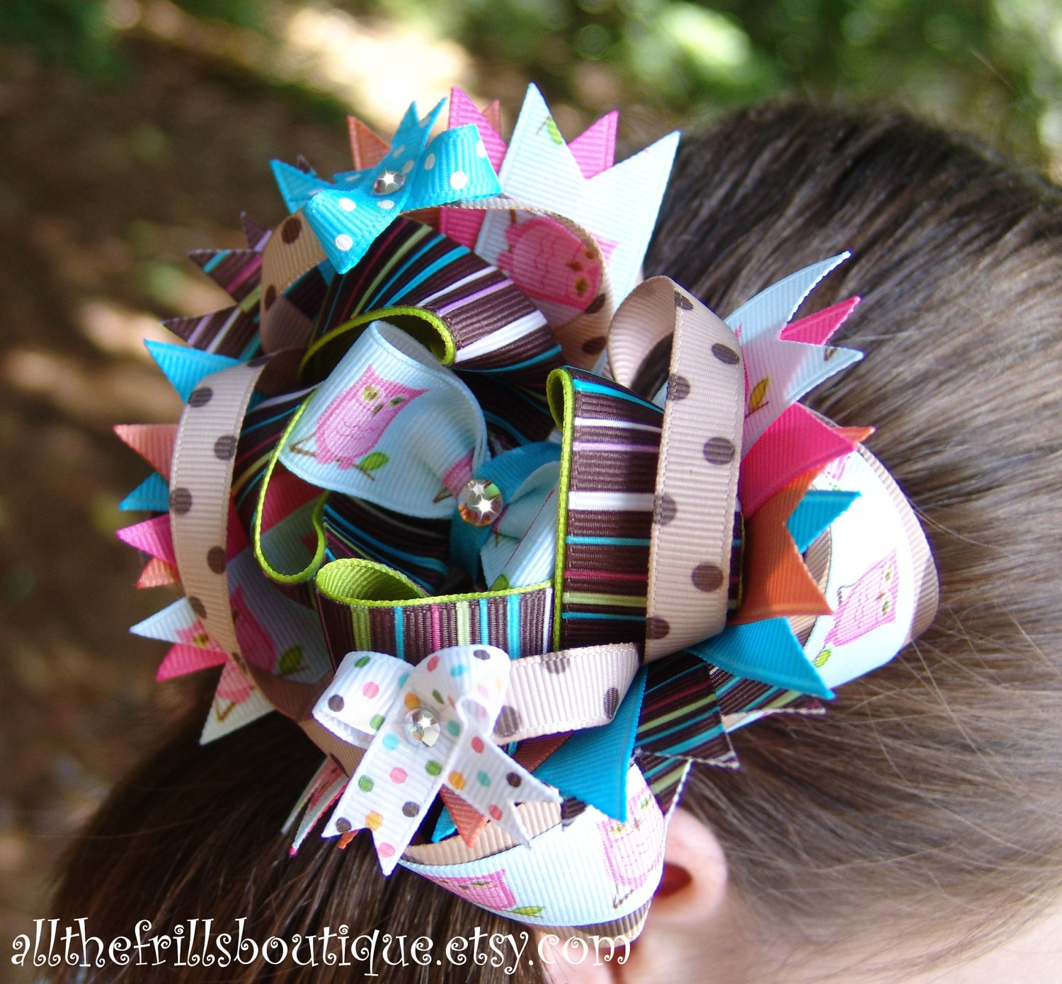 how to make stacked over the top hair bows     boutique