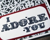 I Adore You - Vintage-Inspired Card for Someone You Love