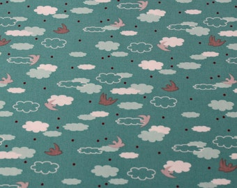 The Woodlands Cotton Fabric by Khristian A Howell for Anthology -Dream in Teal- 1 Yard - Cotton Fabric / Fabric by Yard / New Fabric