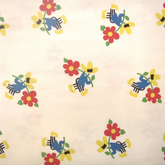 Vintage 1950s Cotton 'J Manes Co' Printed Fabric - 2 7/8 Yards - Fabric Yardage /Woven Fabric /Cotton Fabric /1950s Fabric /1950s Cotton/50s