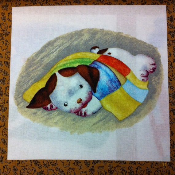 Poky Little Puppy Book Panel Fabric 1 Yard