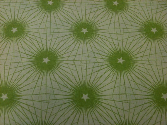 SALE Isabelle Christmas Fabric by Anna Griffin - Starburst in Green - 1/2-Yard -LAST PIECE-