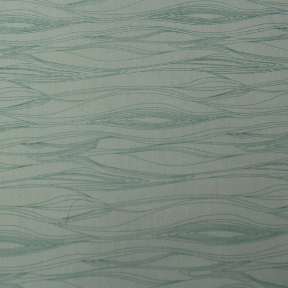 The Woodlands Cotton Fabric by Khristian A Howell for Anthology -Woodgrain in Teal- 1 Yard