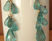 Large Faceted Crystal with small faceted bead earrings