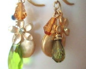 Mulit dangle earrings in fall colors