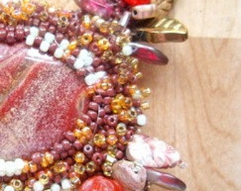 Beaded Red Jasper Necklace