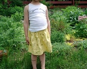 Yellow Yard Fully Lined Skirt for Toddler or Little Girl