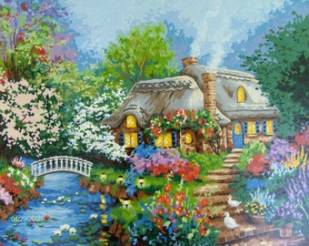 ENGLISH COTTAGE PAINTING