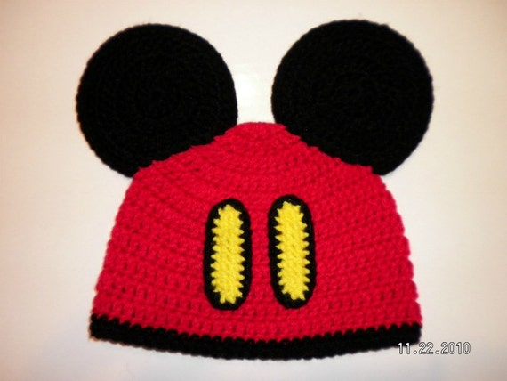 cRAfterchick - Free Crochet Patterns and Projects. Mickey Mouse Oversized Ears Beanie Hat Crochet Pattern Notes. Project requires: Once you have completed your beanie for the base you are ready to start on making your Mickey Mouse ear hat! *Note: If you are going to do this in toddler size beanie, make the 3rd round in mouse ears sc.