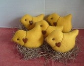 Easter Baby Chicks Set of 5