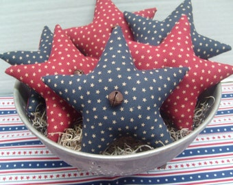 Prim Americana Star Ornies Set of 6