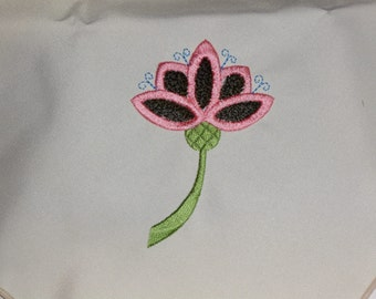 Floral Embroidered Cloth Napkins
