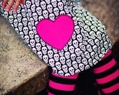 Pink and Black Stripes- KOOL KID Arm / Leg Warmers for Baby, Toddler, Child, Tween Boy or Girl - Fun and Functional Fashion