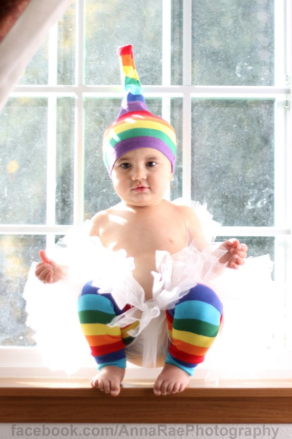 Children's RAINBOW Leg Warmers - Arm Warmers/Leggings for Baby, Toddler, Kid and Tween - Gift for Boy or Girl - Fun and Functional Fashion