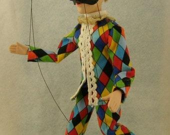 marionette Commedia dell'arte  Harlequin  Arlecchino
