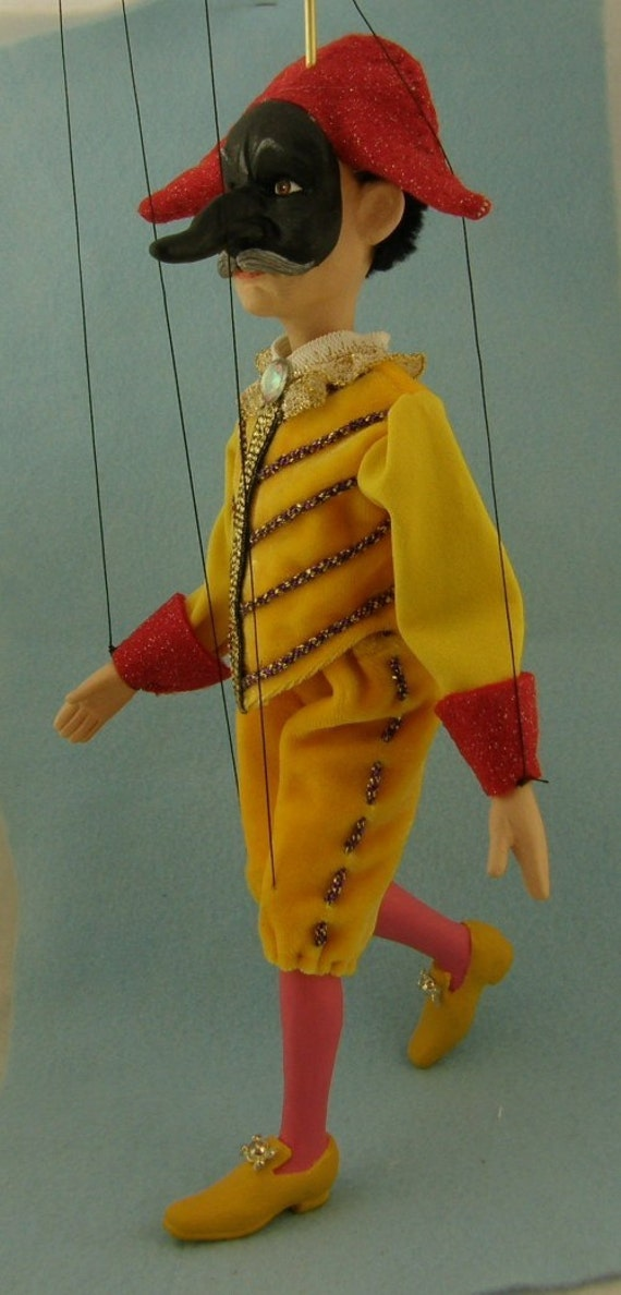 marionette Commedia dell'arte  Il Capitano (The Captain)