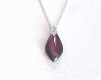 Red  CZ  necklace