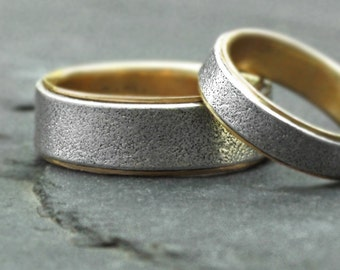gold and silver wedding set - White Sands