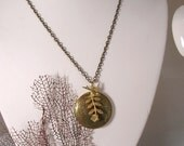 Bird and Leaf Locket Necklace