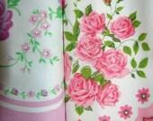 Vintage Pillowcase Fabric Pinks