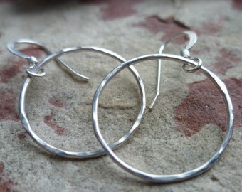hammered sterling loops