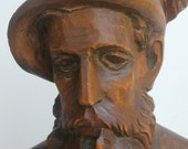 Wood Carving-Man with Pipe