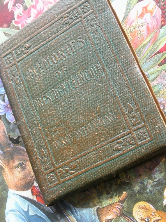 Memories of President Lincoln-Walt Whitman-Little Leather Library-Redcroft Edition