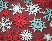 Snowflake Felt Scrapbooking Embellishments
