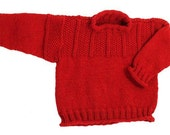 Easy Child's Chestnut Hill Gansey Pullover Sweater - No Seams - Knitting Pattern PDF