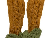 Easy Cable Mitten Pattern - Worsted or Chunky Weight Yarn - For Kids and Adults -Knitting Pattern PDF