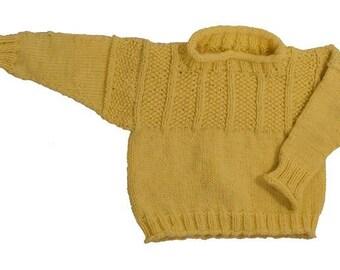 Baby Chestnut Hill Gansey Pullover Sweater - Knitting Pattern PDF