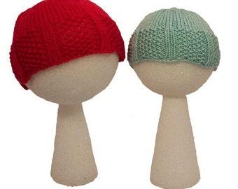 Baby and Child's Chestnut Hill Gansey Hat - Knitting Pattern PDF