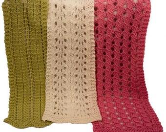 Barbara Ruth & Leona Easy Lace Scarves - Knitting Pattern PDF