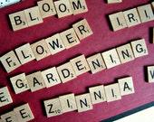 1989 Scrabble Tiles. Garden Set