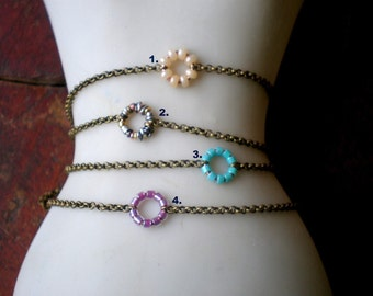 Boho Friendship Ankle Bracelet - Flower Focal - Summer Jewelry - Rustic - Gift Teen Girl - Coachella Fashion - Bohemian Anklet - Girlfriend