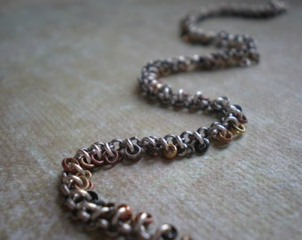 Boho Bracelet/Hanging Link Bracelet/Mixed Metal Beads/Organic/Rustic Bracelet/Cowgirl Jewelry/Christmas Gift Girlfriend/Detailed Elements