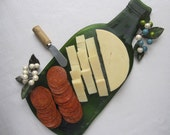 Sassy Green Extra Large Wine Serving Platter