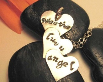 Personalized Heart Sterling Silver Pendant