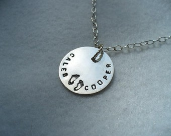 Personalized Sterling Silver Pendant