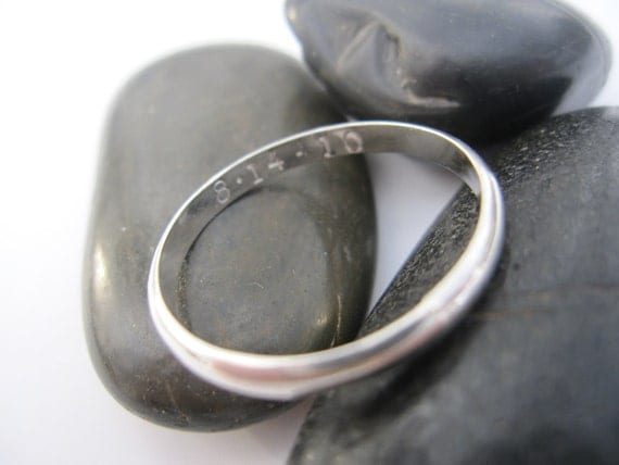 Sterling Silver Personalized Thumb Ring