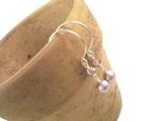 Med. Pink Pearl Earrings -SALE